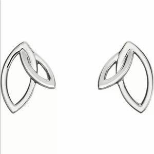 Jewelry - Double Leaf Stud Earrings Gold Option
